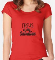 Jesus is my salvation Women's Fitted Scoop T-Shirt