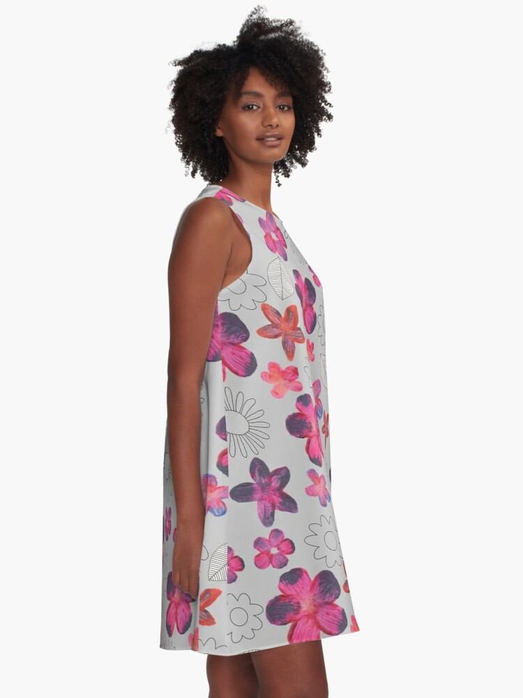 Alternate view of Watercolour Floral Pattern A-Line Dress