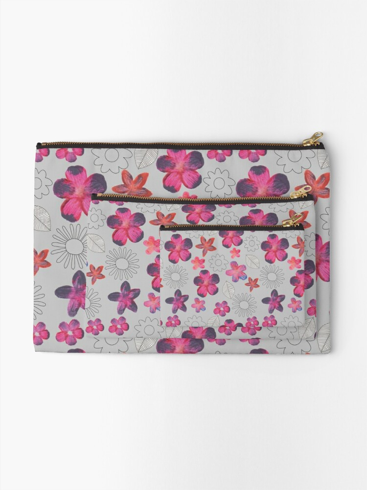 Alternate view of Watercolour Floral Pattern Zipper Pouch