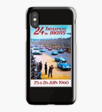 DU MANS; Vintage Auto Racing Advertising Print iPhone Case/Skin