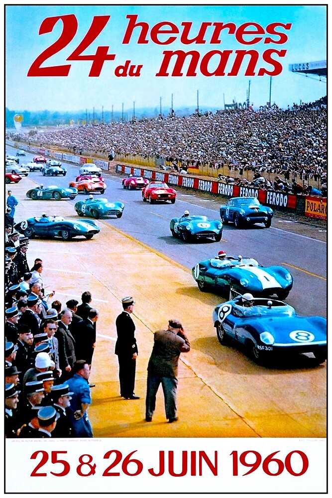 DU MANS; Vintage Auto Racing Advertising Print by posterbobs