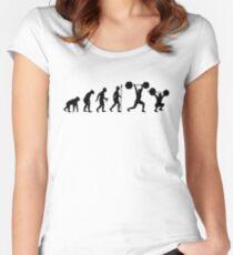 Evolution - olympisches Gewichtheben Tailliertes Rundhals-Shirt