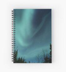 Alien Aurora Borealis Spiral Notebook