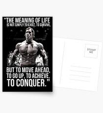 Arnold Schwarzenegger Arnie Conquer Quote Postcards