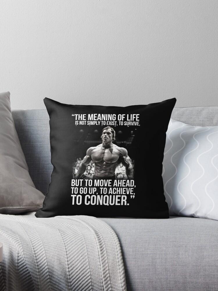 Arnold Schwarzenegger Arnie Conquer Quote von King84