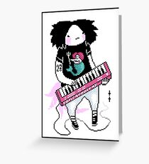 keyboard person Greeting Card