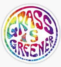 Grass is Greener Tye Dye Sticker