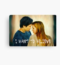 I Want To Believe oil color painting Canvas Print