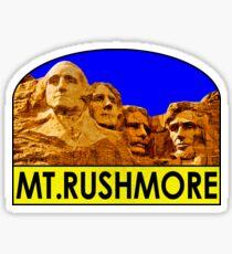 MOUNT RUSHMORE SOUTH DAKOTA NATIONAL MEMORIAL VINTAGE BLACK HILLS PARK Sticker
