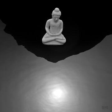 Buddha V BW by davegordon