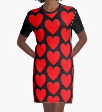 Hearts Graphic T-Shirt Dress