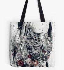 Katze in Blumen Tote Bag