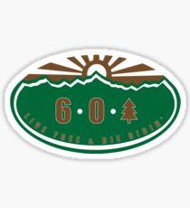 6 0 tree Sticker