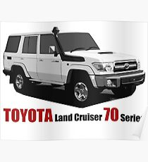 TOYOTA Land Cruiser 70 Series HZJ76 Poster