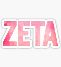 Sorority Greek Letter - Zeta Sticker