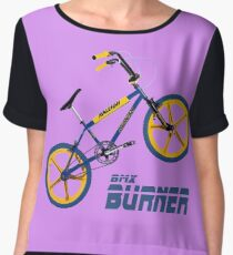 Retro BMX Burner  Women's Chiffon Top