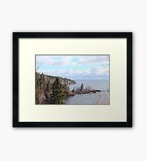 Tettegouche State Park Looking Northeast Framed Print