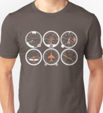 Basic Six Flight Instruments Unisex T-Shirt