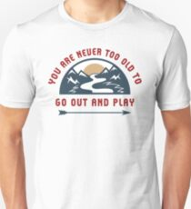 Adventure Go Out And Play Slim Fit T-Shirt