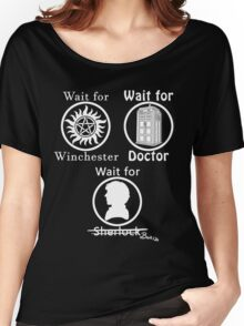 SuperWhoLock - White Women's Relaxed Fit T-Shirt