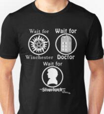 SuperWhoLock - White Unisex T-Shirt