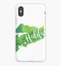 Nova Scotia Watercolor Map - Halifax Hand Lettering  iPhone Case/Skin