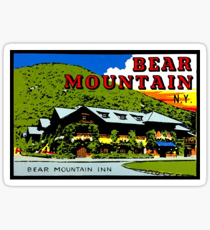 Bear Mountain New York Vintage Travel Decal Sticker