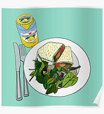 Healthy Falafel Wrap Lunch Poster