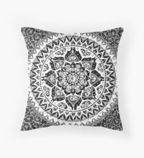 Yin Yang Mandala Pattern Throw Pillow