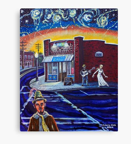 'Night Falls on NoDa' Canvas Print
