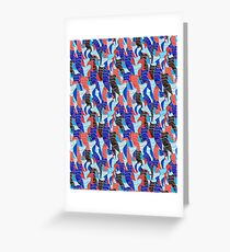Abstract vector seamless pattern Greeting Card