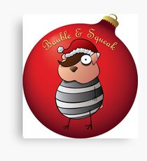 Bauble and Squeak - Christmas Emo Hamster Canvas Print