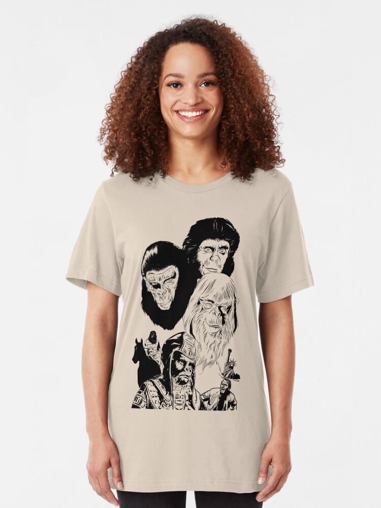 Alternate view of Ape Planet! Slim Fit T-Shirt