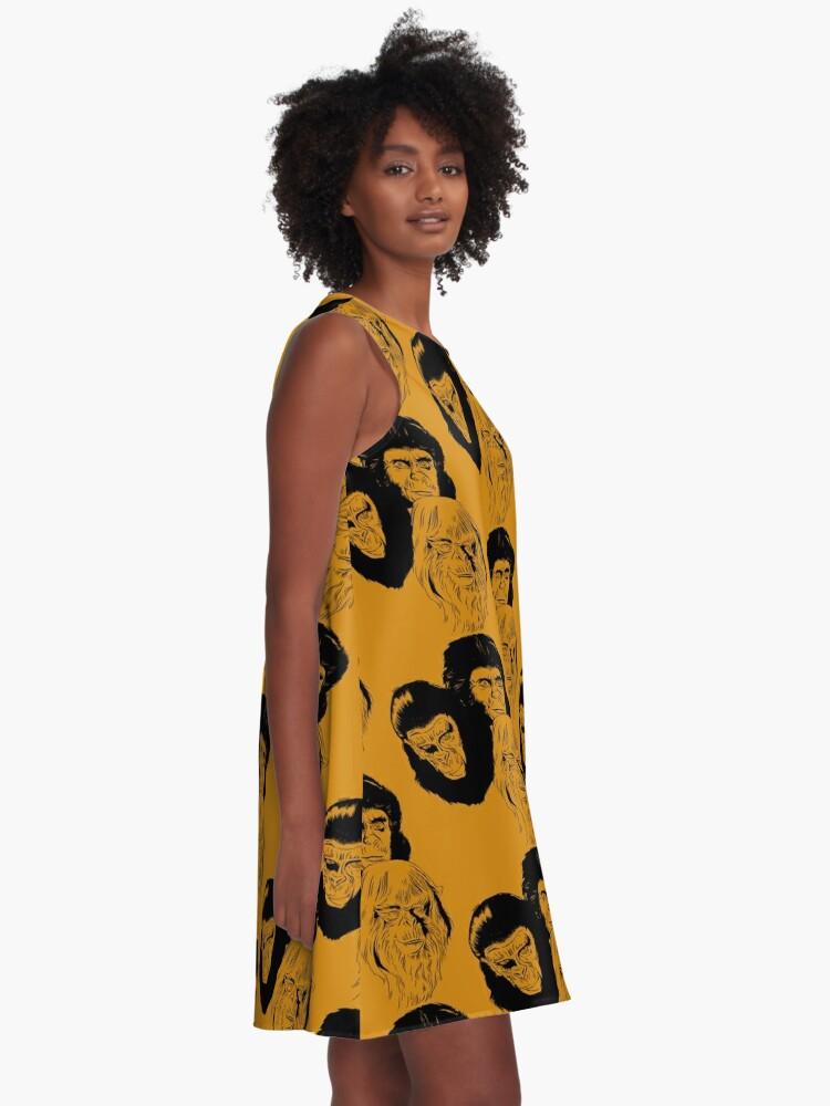 Alternate view of Ape Planet! A-Line Dress
