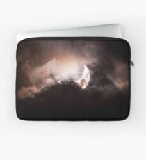 Crescent Sun behind the Clouds Laptop Sleeve