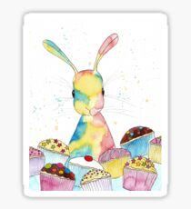 Baking Bunny by Peppermint Art Sticker