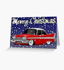 Retro Christmas Card Series Plymouth Fury Greeting Card