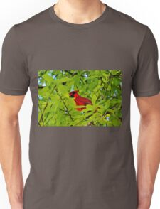 Red Bird In The Middle Unisex T-Shirt