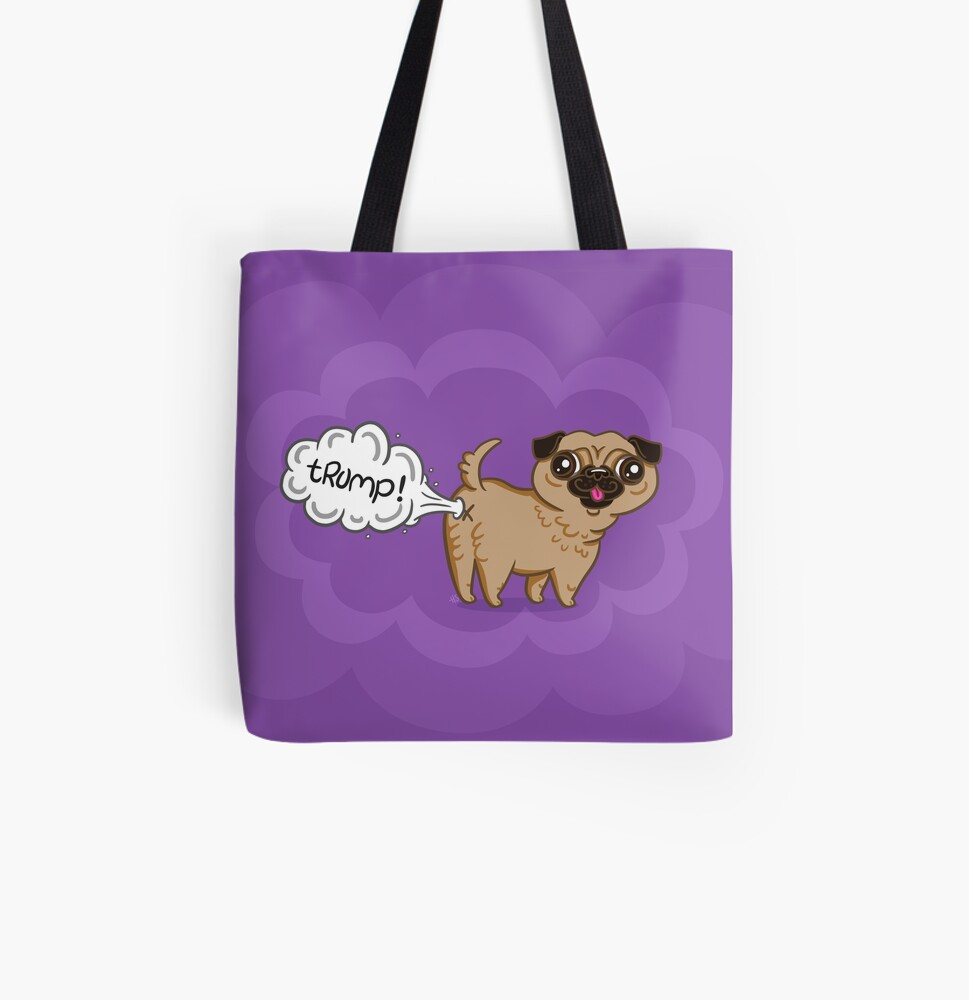 Pugs Against Trump All Over Print Tote Bag