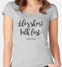 Camiseta entallada de cuello redondo Gilmore Girls - Life's Short
