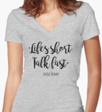 Gilmore Girls - Life's Short Women's Fitted V-Neck T-Shirt