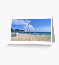Ashore in Phillipsburg Greeting Card