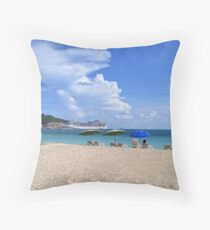 Ashore in Phillipsburg Throw Pillow