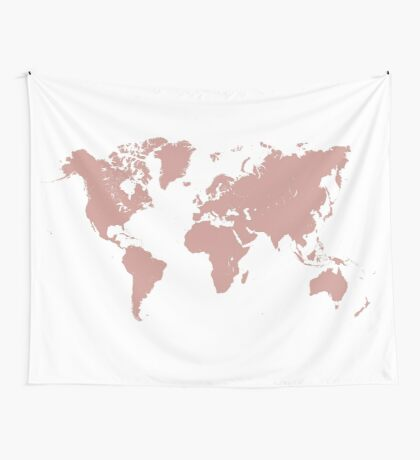 world map 25 Wall Tapestry