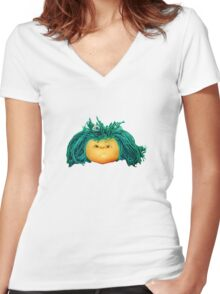 Angry Doll Women's Fitted V-Neck T-Shirt