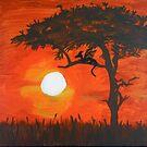 Serengeti Sunset by featheredzebra
