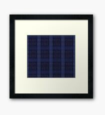A Mystic Wit Complimentary Blue Plaid Framed Print