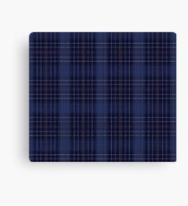 A Mystic Wit Complimentary Blue Plaid Canvas Print