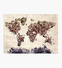 world map Photographic Print