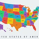 United States Map by linesandcolors